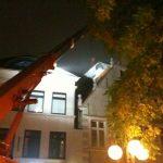 Hausabbruch bei Nacht, Damm Oldenburg