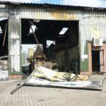 Abbruch verbrannte Biogasanlage
